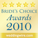 WeddingWire Wedding Awards 2010 Winner