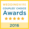 WeddingWire Wedding Awards 2016 Winner