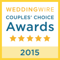 WeddingWire Wedding Awards 2015 Winner