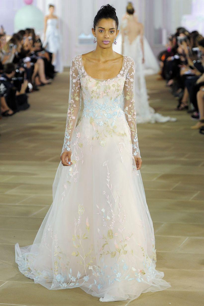 Scoop wedding dress neckline
