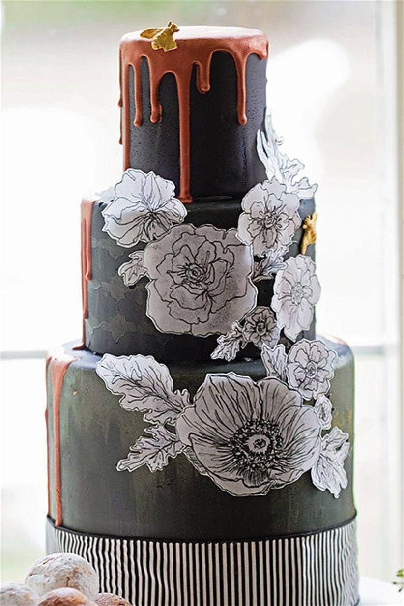Wedding cake with Ganache